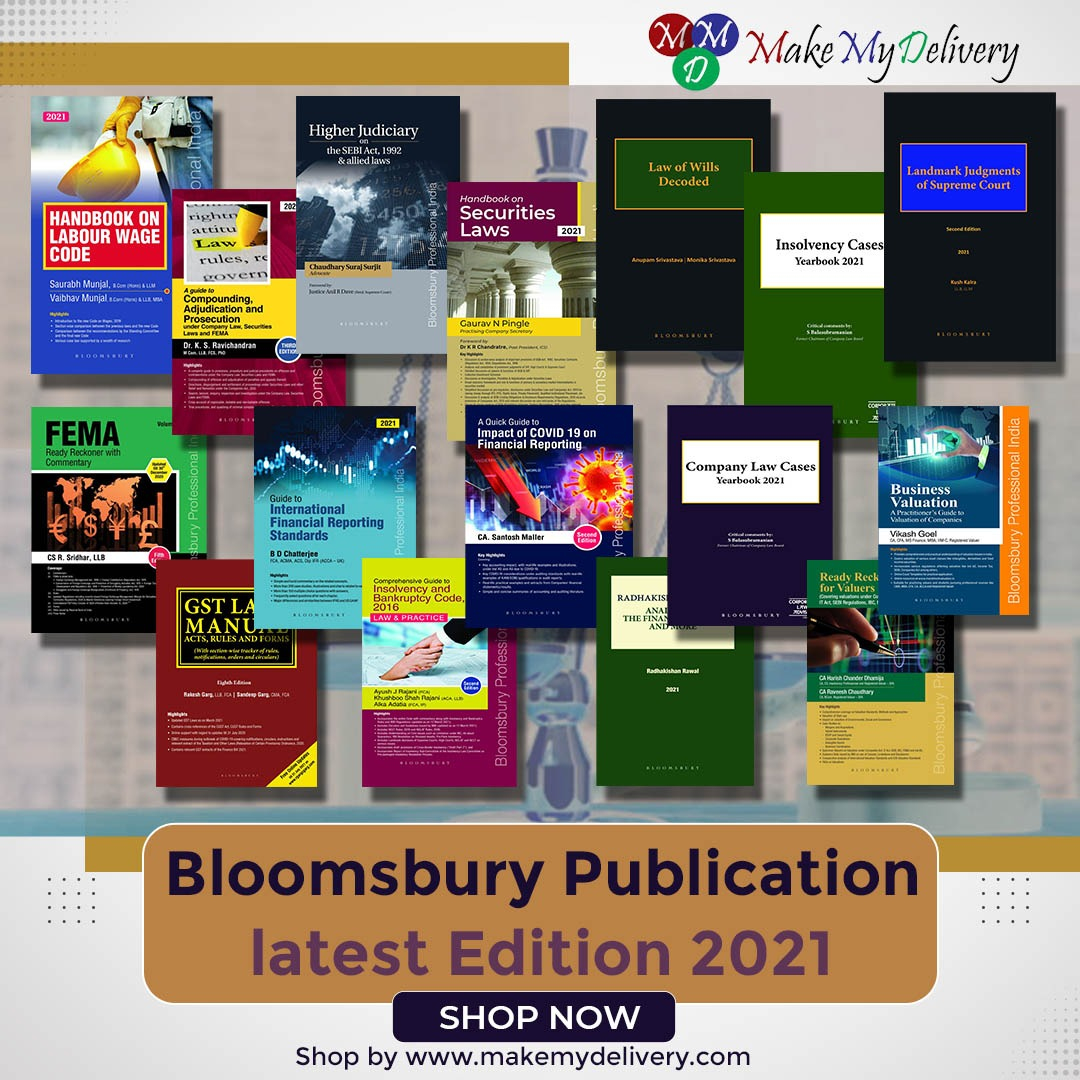 MakeMyDelivery and CA Parivaar Offers Special Discount on Bloomsbury Titles
