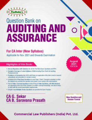 CA Inter Question Bank On Auditing & Assurance New By G Sekar