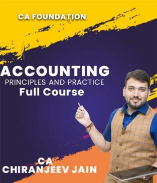 Video Lecture CA Foundation Accounting Full New By CA Chiranjeev Jain
