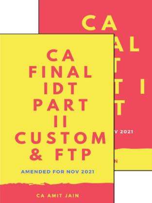 CA Final Indirect Tax Laws Custom FTP New Syllabus Amit Jain