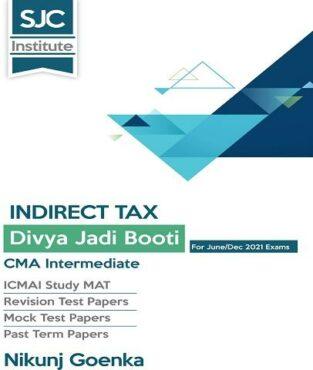 CMA Inter Indirect Tax Divya Jadi Booti Book By CA Nikunj Goenka