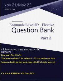 CA Final Elective Economic Laws Question Bank By CA AKS Krishnan