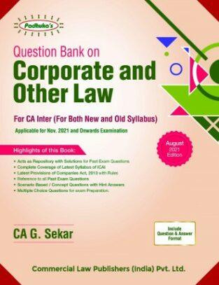 Padhuka Question Book CA Inter Law New By CA G. Sekar