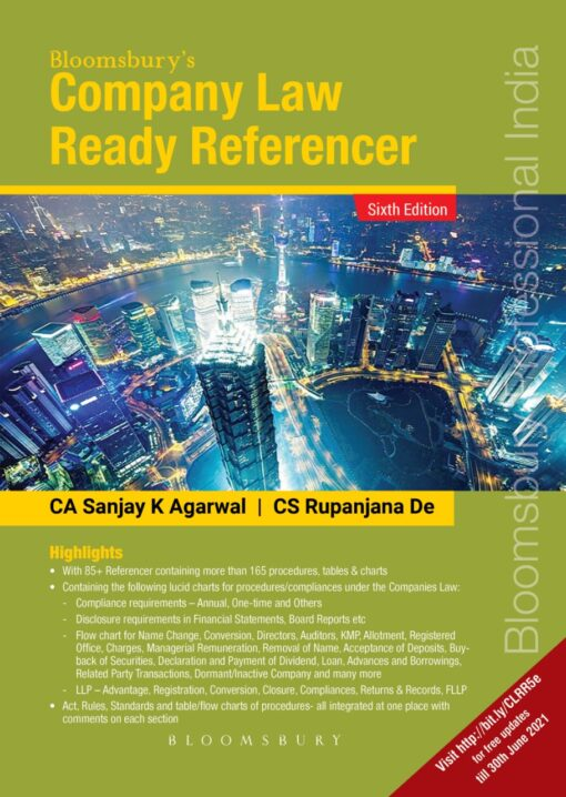 Bloomsbury Company Law Ready Referencer By Rupanjana De, Sanjay Agarwal(Use This Coupon Code (BLBY15MD)Extra Discount