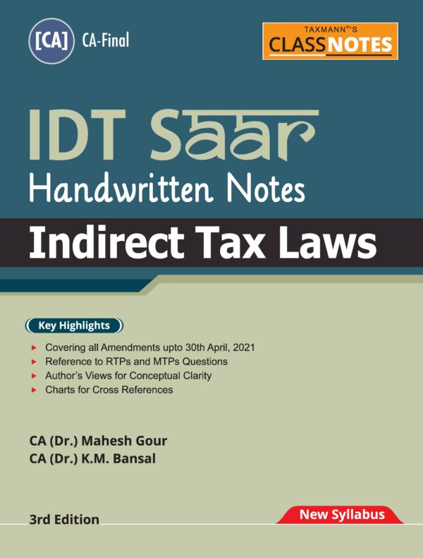 CA Final IDT सार Handwritten Notes By CA Mahesh Gour