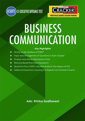 Taxmann CSEET Cracker Business Communication By Ritika Godhwani