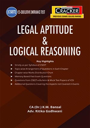 Taxmann CSEET Cracker Legal Aptitude & Logical By K M Bansal