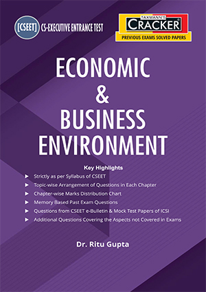 Taxmann CSEET Cracker Economic Business Environment By Ritu Gupta