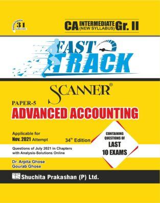 Shuchita Scanner CA Inter Gr. I Advanced Accounting (Fast Track Edition)