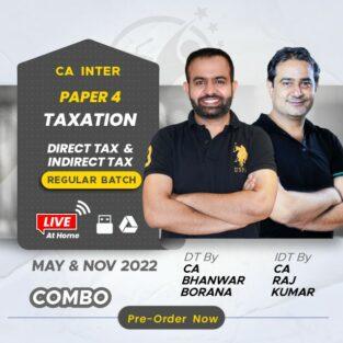 Video Lecture CA Inter Direct Indirect Taxation Bhanwar Borana Rajkumar