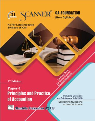 Scanner CA Foundation Principles and Practice of Accounting (Regular)
