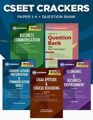 Taxmann Combo for CSEET Paper 1 to 4 & Question Bank By K.M. Bansal