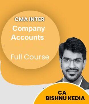 Video Lecture CMA Inter Company Accounts Full Course By CA Bishnu Kedia