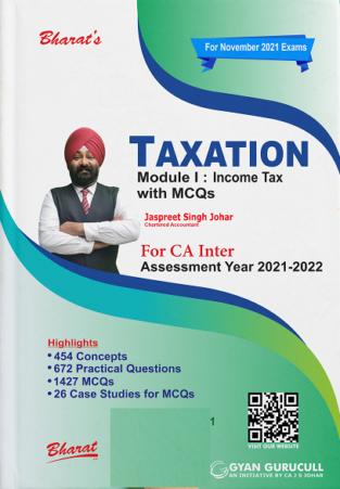 Bharat CA Inter Taxation Income Tax Jaspreet Singh Johar CA Inter