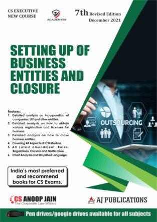 CS Executive New Syllabus Setting up of Business Entities Anoop Jain