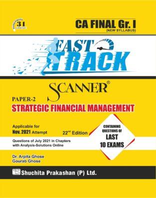 Scanner CA Final Strategic Financial Management Fast Track Edition