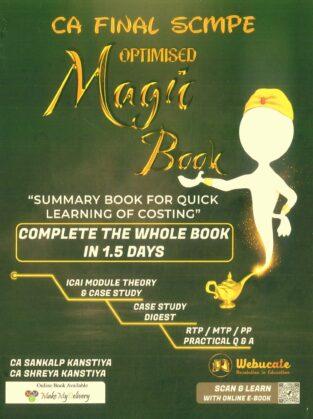 CA Final SCMPE Summary Magic Book New By CA Sankalp Kanstiya
