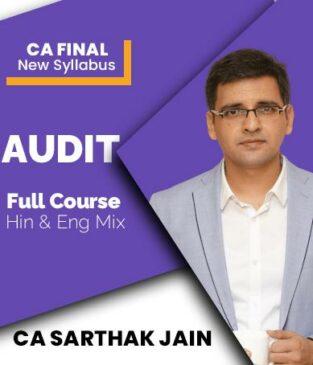 Video Lecture CA Final Audit 2021 New Syllabus By CA Sarthak Jain