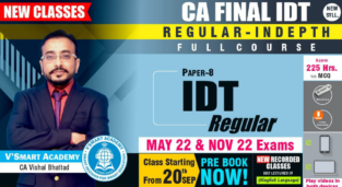 Video Lectures CA Final Indirect Tax New Syllabus By CA Vishal Bhattad