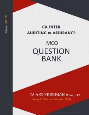 CA Inter Audit MCQ Book New Syllabus By CA AKS Krishnan