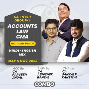 Video Lecture CA Inter Combo Accounts Law & Costing New May 2022