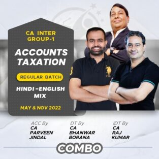 Video Lecture CA Inter Accounts & Taxation New Syllabus May 2022