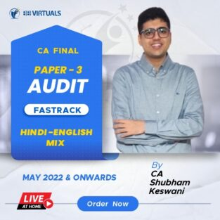 Video Lecture CA Final Audit By CA Shubham Keswani