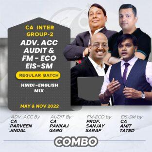 Video Lecture CA Inter Combo Group 2 May / November 2022