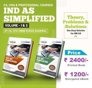CA/CMA Final Ind AS Simplified (Theory P/S) By CA Vinod Kumar Agarwal