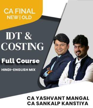 CA Final SCMPE and IDT Full Course Sankalp Kanstiya Yashvant Mangal